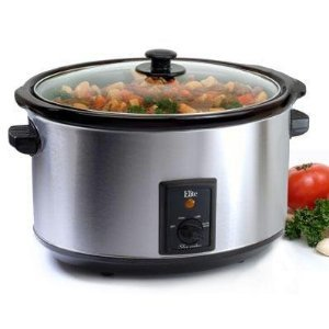 Digital Slow Cookers: Maxi Matic 8.5 Qt. Stainless Steel Slow Cooker