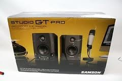 Samson Sasgt4Pro Studio Gt Pro Active Studio Monitors With Usb Audio Interface And C01 Studio Condenser Microphone