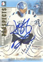 Jeff Drouin-Deslauriers, Chicoutimi Sagueneens - QMJHL, 2004 In The Game Heroes and Prospects Autographed Card