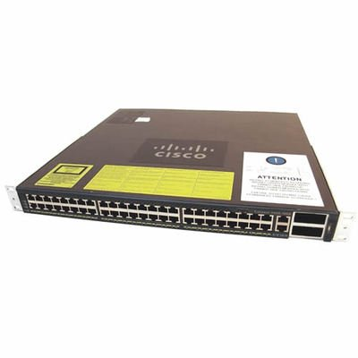 Cisco Catalyst 4948-10GE Layer 3 Ethernet Switch - 2 x X2 - 48 x 10/100/1000Base-T - WS-C4948-10GE-RF