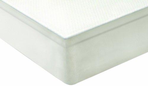 Sensorpedic Slumber Supreme 2-Inch 5-Zoned Memory Foam Mattress Topper, Twin, White front-105393