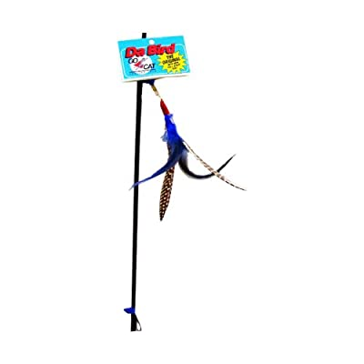 Da Bird Interactive Feather Cat Toy - Easy Store / Pull Apart Rod