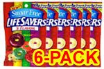 Life Savers Sugar Free 5 Flavor Hard Candy 2.75 oz - Pack of 6