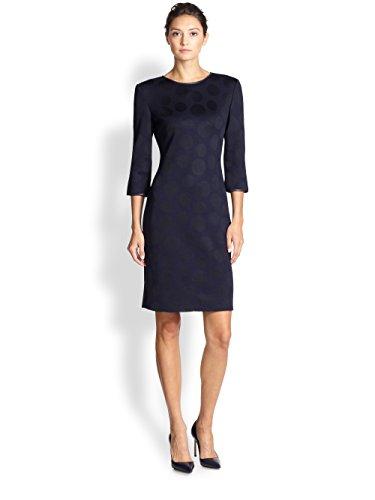 st-john-jacquard-dot-sheath-dress-size-16