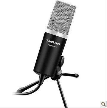 Takstar Pcm-1200 Plug 3.5Mm Professional Dynamic Microphones For Skype Msn Qq Internet Chat Computer Mic--Black
