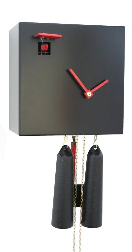 Modern cuckoo clock Black Cube, 8 day