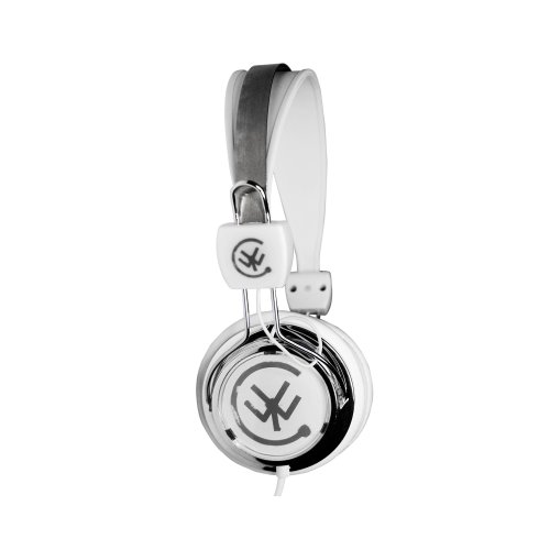 Urbanz Zip Kids Childrens Lightweight Dj Style Headphones (White)