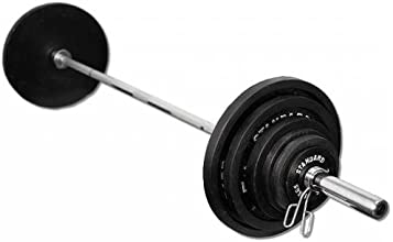 CAP Barbell 300 Pound Rubber Grip Olympic Weight Plate Set