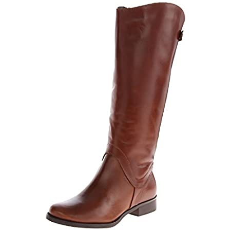 "Steven by Steve Madden ""Sady"" Leather Riding Boot Never thought you could be comfortable in a high-fashion, tall leather boot — think again. Add a little stretch to your stride with these easy-to-wear riding boots from Steve Madden. A built-in elasti..."
