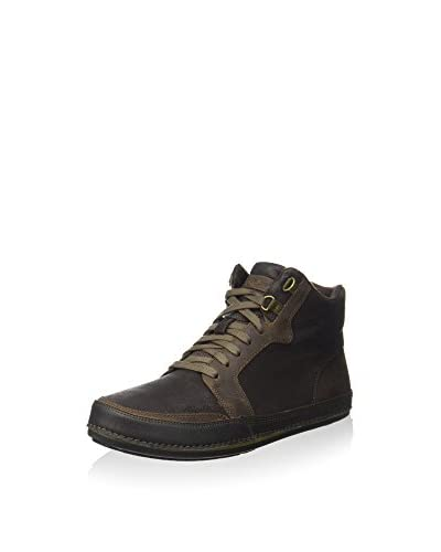 Rockport Botines de cordones Jetty Point Mid Cut Chocolate