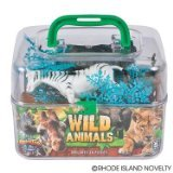 Adventure Planet Wild Animals Set with Carrying Case, 20-Piece