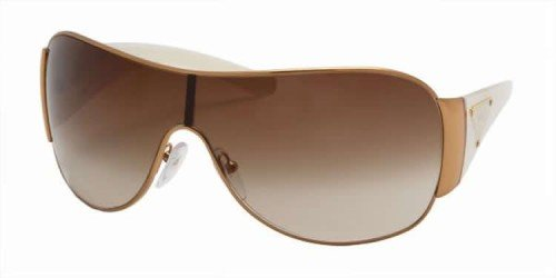 Prada 57l Ivory Frame/Brown Gradient Lens Metal Sunglasses