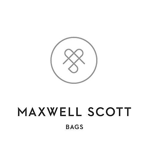 Maxwell Scott Bags - Sac de Voyage Cabine Cuir Italien Végétal de Luxe 35 L - Marron Foncé