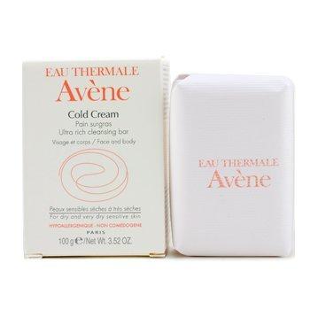 Avene Cold Cream Ultra Rich Cleansing Bar (For Dry & Very Dry Sensitive Skin) - 100g/3.52oz