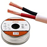 Mutec-Cable -Speaker Wire 2 x 1.5mm² (16AWG) 30M CL2 Rated UL Listed Oxygen Free Copper (For In-Wall Installation) 30 Meter