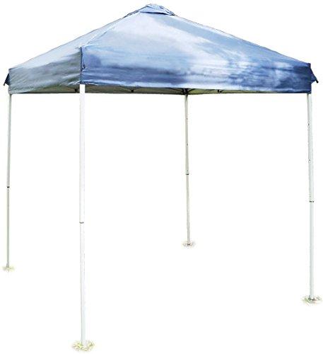 バッとひろがるワンタッチテント(クイックタープ) ブルー Sサイズ 2m×2m UVカット 高さ調節可