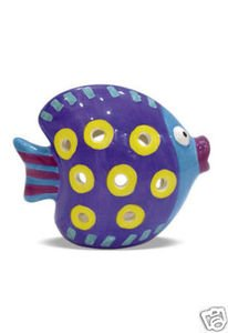 Hawaiian Candle Holder Color Me Paradise Rainbow Fish