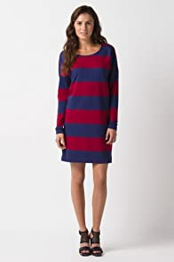 Long Sleeve Rugby Stripe Sweatdress