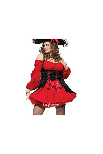 Vixen Pirate Wench Costume - Plus Size 1X/2X - Dress Size 16-20