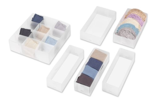 Whitmor 6064-A186 Drawer Organizers Small 6 Count
