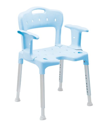 Swift Shower Stool with Back and Arms Blue