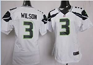 Ladies Russell Wilson Seattle Seahawks White XL Elite Jersey by LEAGUE GEAR