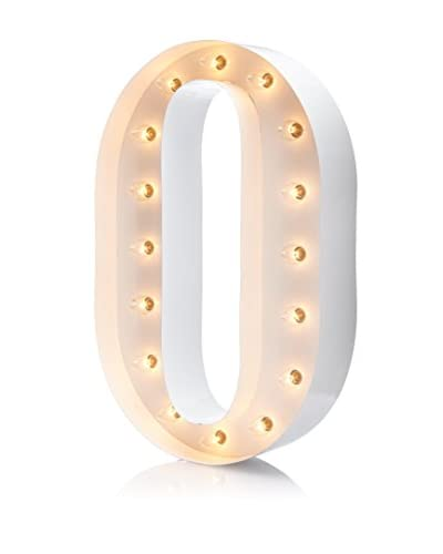 """24"""" Vintage-Inspired Letter O Marquee Light, White"""
