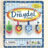 The Dreidel Game - Set of 4 Painted Wood Dreidels - 1