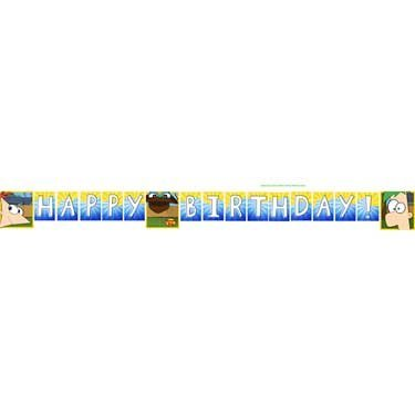 Phineas and Ferb Party Birthday Banner - 1