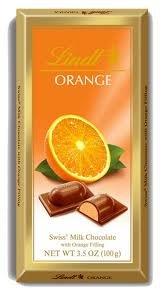 Lindt Bar (Milk Chocolate Filled With Tart Orange Filling) - Pack Of 4