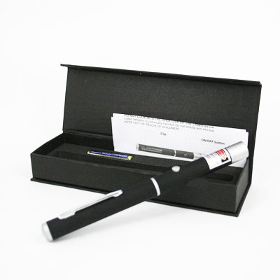 5mw High Powered Black Dimple Green Laser Pointer With DOUBLE Bonus LED Flashlight and BLUE Microfiber Optical Cloth