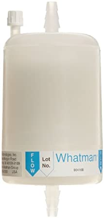 Whatman 6705-7500 Polycap SPF 75 Polyethersulfone Membrane Capsule Filter with SB Inlet and Outlet, 60 psi Maximum Pressure, 1.0 Micron