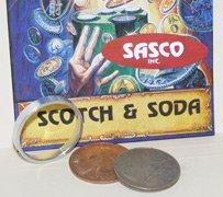 Scotch & Soda English Penny Coins Magic Tricks Close-Up
