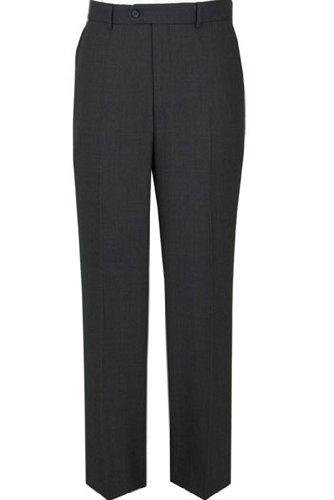 Birdseye Plain Fronted Suit trousers 44inch Waist 31inch, Charcoal Birseye (270)