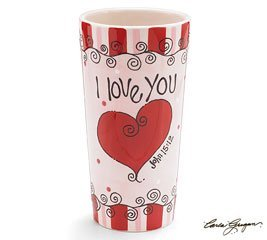 Pink I Love You John 15:12 Vase You Are Loved Ceramic