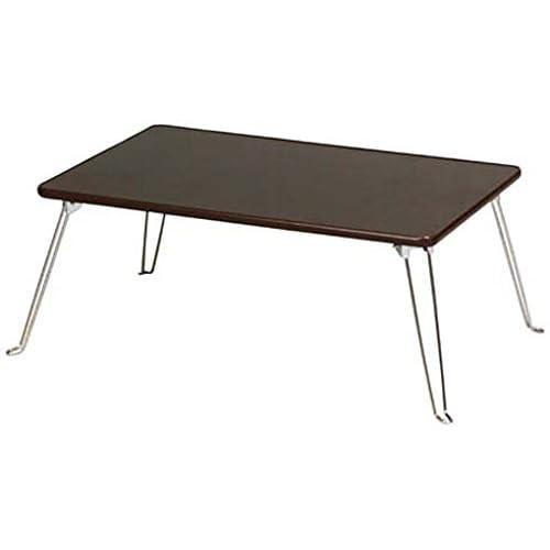 koeki 木目柄ローテーブル(折脚) ブラウン PTM750(BR)
