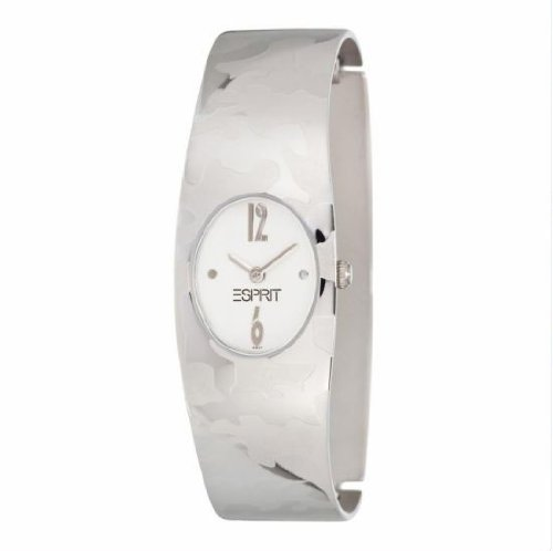 Esprit ES000922014 - Reloj analógico de mujer de cuarzo con correa de acero plateada