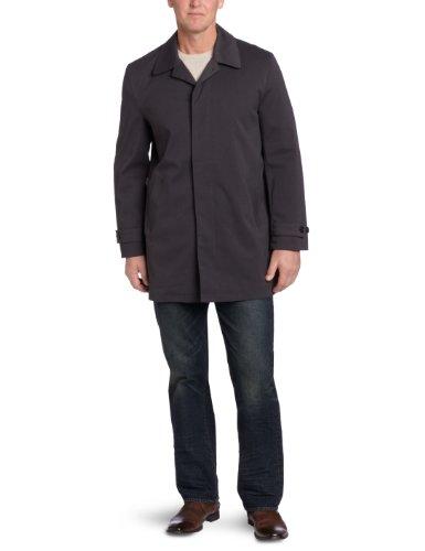 Michael Kors Men's Patterson Rain Coat, Charcoal/Black, 46 Regular (Rain Jackets Michael Kors compare prices)