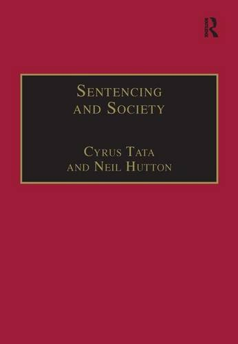 Sentencing and Society: International Perspectives