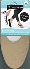No-Nonsense Cotton Foot Liner Nude (3…