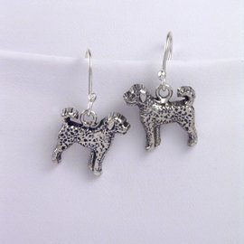 Portuguese Water Sterling Silver Earrings