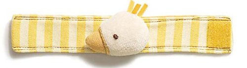 Silly Stripes Duck Wrist Rattles front-1014514