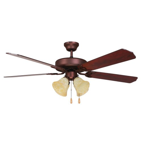 Yosemite Home Decor Westfield-Bb-4 52-Inch Ceiling Fan With Light Kit And Elm/Cherry Blades, Burnished Bronze