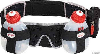 FuelBelt Helium 2 Bottle Belt, Black, Small