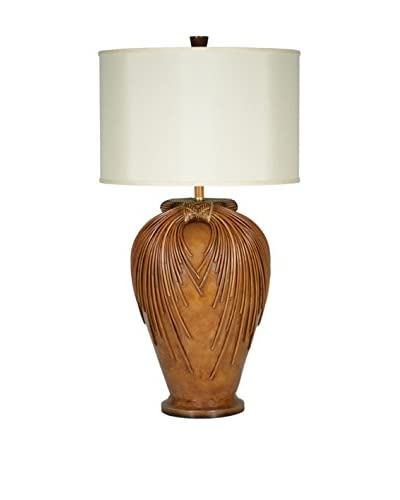 Palecek Trailing Vine Urn Lamp Pre-Wired, Natural