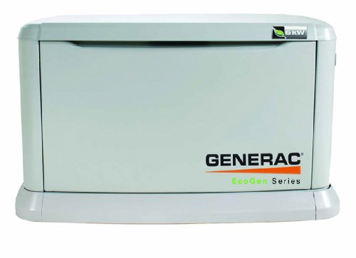 Generac 5818 EcoGen Series 6,000 Watt Liquid Propane Powered Off-Grid Standby Generator