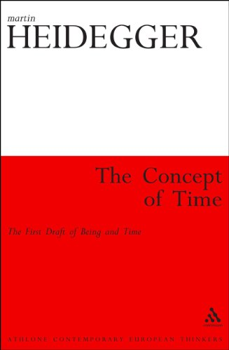 The Concept of Time: The First Draft of Being and Time (Athlone Contemporary European Thinkers)