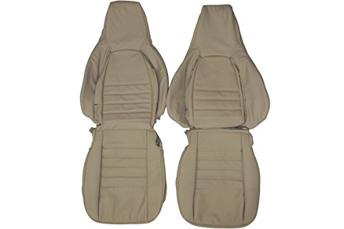 1984-1989 Porsche 911 Carrera Genuine Leather Seats Cover Custom Made (Front)Charcoal Black