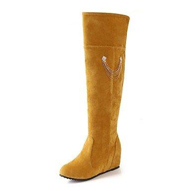 Frauen Schuhe Mode Stiefel Keilabsatz kniehohe Stiefel mehr Farben erhältlich jetzt kaufen