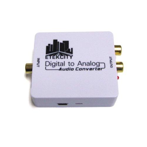 Etekcity Optical SPDIF Toslink Coaxial Digital to RCA L R Analog